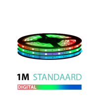 1M - LED Strip Set 5050 - STANDAARD - IP20 - DIGITAAL 12V ZWART