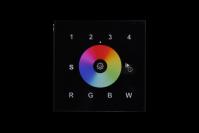Muurafstandsbediening ZWART voor Controller 8-zone   RGBW   4x5A